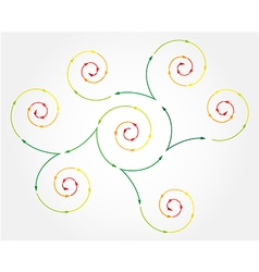 Connected spiral arrows vector