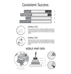 consistent success statistics vector image