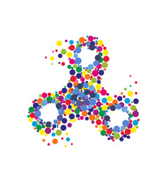 creative abstract hand spinner fidget spinner vector image
