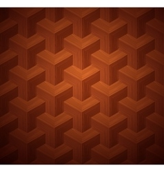Dark Parquet 3d Seamless Floor Pattern vector image