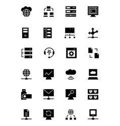 Database and server icons 3 vector