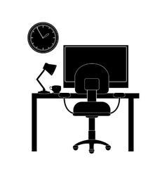 Desk office icon vector