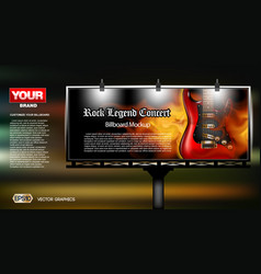 Digital rock legend concert vector