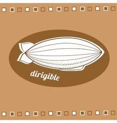 Dirigible balloon vector image