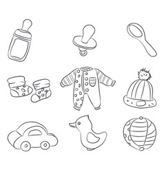 drawings of childrens things lines vector image
