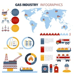 Gas Infographics Set vector