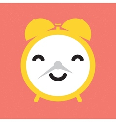 Happy alarm clock vector image