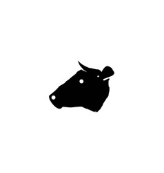 Head cow logo designs inspiration isolated on vector