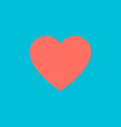 heart coral color on blue background heart in vector image