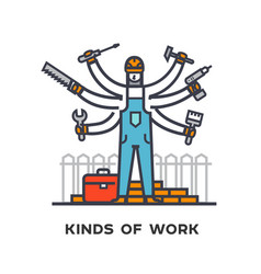 Hiring a worker repairing a house a multi-armed vector
