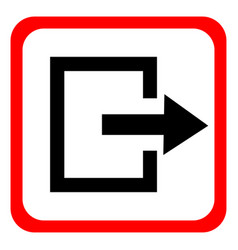 Icon exit on white background vector