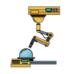 Industrial robot hand engineering equipment image vector
