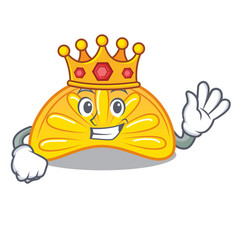 King orange jelly candy mascot cartoon vector
