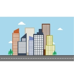 Landscape city color of vector