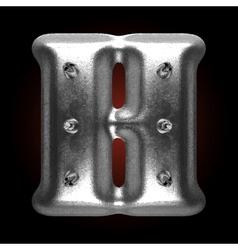 Metal construction figure h vector