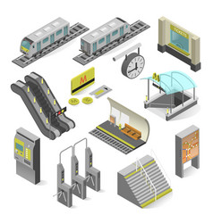 Metro station isometric vector