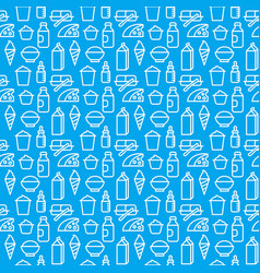 Milk products pattern vector
