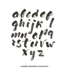 Modern ink Alphabet font vector