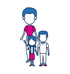 mother with her kids son and daugther vector image