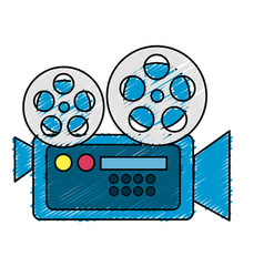 Movie camera to projection scene vector
