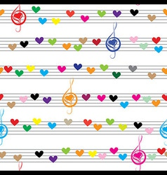 Music heart note sound love texture vector image
