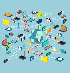 network technology vector image