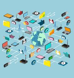 Network technology vector