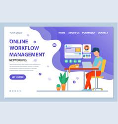 Online workflow management online website text vector