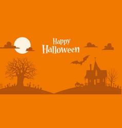 Orange halloween background template vector