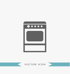 oven icon simple furniture sign vector image