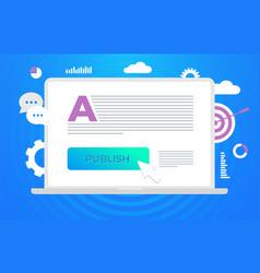Publish content digital content marketing vector