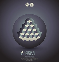 pyramid on sphere vector image