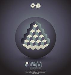 Pyramid on sphere vector
