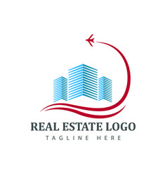 real estate logotype template construction logo vector image