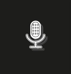 retro microphone icon - sound music - voice vector image