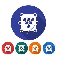 round icon of billiards table balls triangle vector image