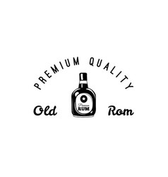 rum bottle and glass craft beer icon pub bar vector image