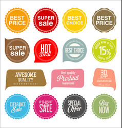sale stickers and tags collection vector image