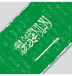 Saudi arabian grunge flag vector