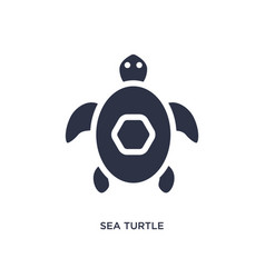 Sea turtle icon on white background simple vector