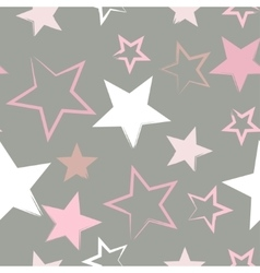 Seamless universal pattern Stars vector