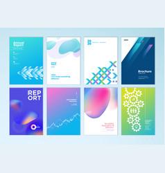 Set brochure and report design templates vector