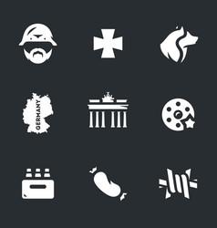 set german icons vector image