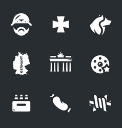 set of german icons vector image