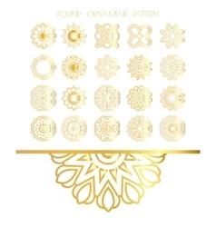 Set of golden round frames vector image