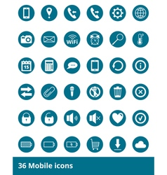 Set of icons Mobile Phones vector image