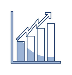 Shadow bar chart icon vector
