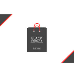 shopping bag - black friday sale concept vector image
