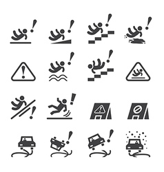 slippery icons set vector image