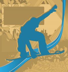 snowboarder vector image vector image